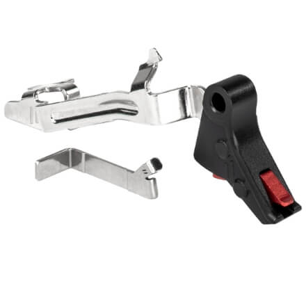 Zev PRO Flat Face GLOCK Gen 1-4 Trigger Bar Kit - Small - Black/Red