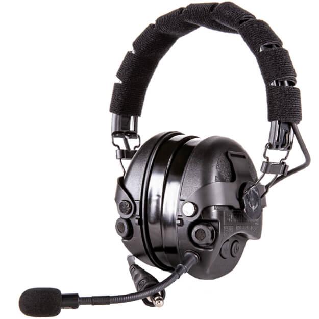 TCI Liberator IV Advanced Single Communications Headset - Black