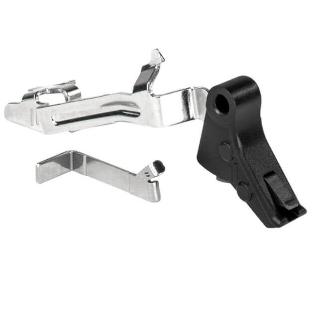 Zev PRO Flat Face GLOCK Gen 1-4 Trigger Bar Kit - Small - Black/Black