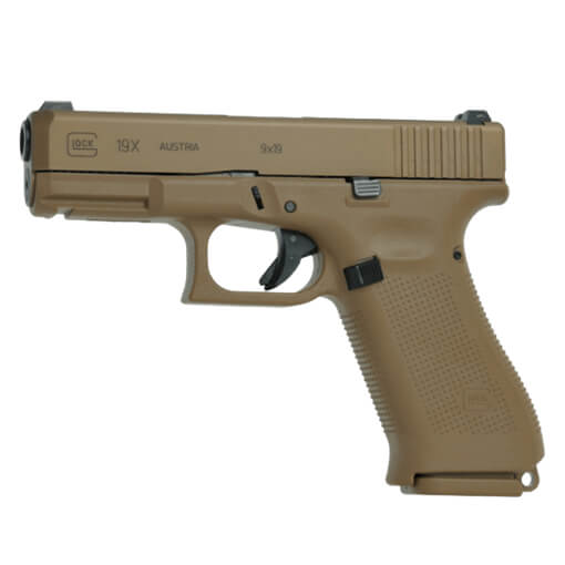 GLOCK G19X Gen5 9MM w/ 17rd Mag - Two 17+2rd Mags - GLOCK Night Sights - Blue Label