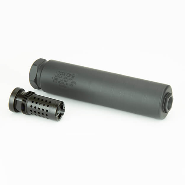 Griffin Armament EXPLORR 6.5MM Suppressor w/ Taper Mount