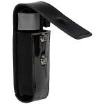 North American Rescue Duty Belt CAT Tourniquet Holder - High Gloss Leather w/ Loop - Black Snap