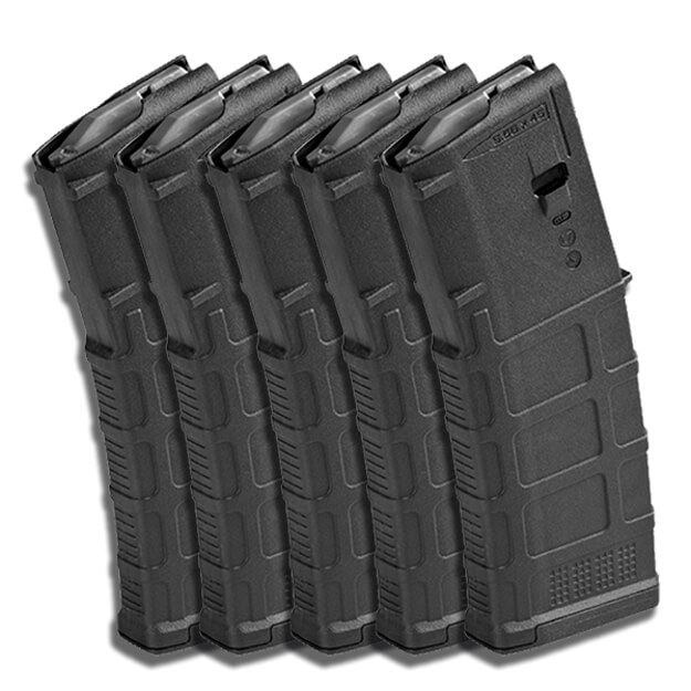 MAGPUL PMAG 30rd NON-Window GEN M3 - Black - 5 Pack