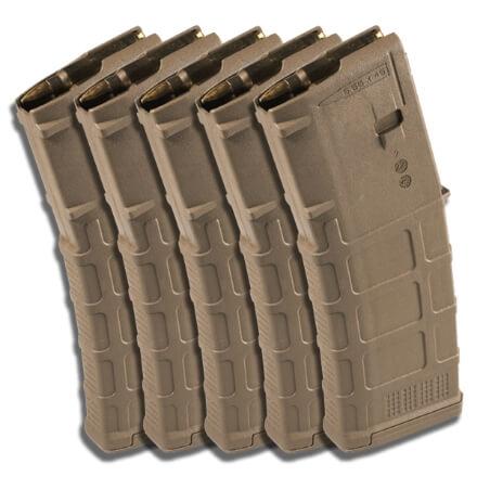 MAGPUL PMAG 30rd NON-Window GEN M3 - Medium Coyote Tan - 5 Pack