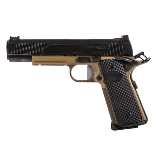 "TriArc 1911 .45 ACP Government 5"" TRACK Barrel w/ Dark Earth Short Dust Cover - Black Nitride Finish"