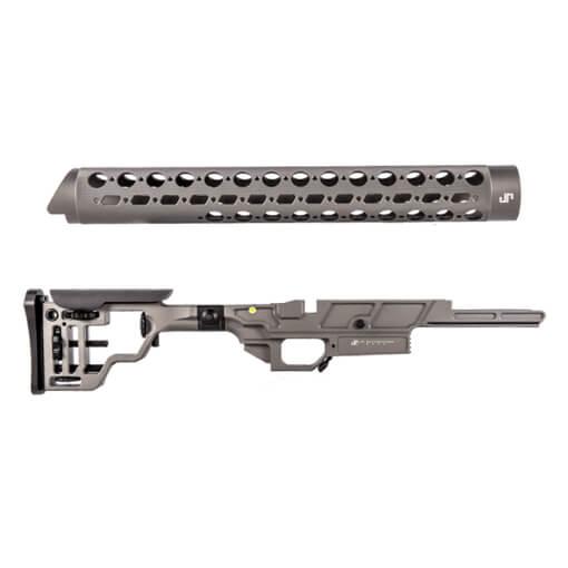 "JP Enterprises APAC Chassis - Remington 700 Left Fold w/ Two 4"" Picatinny Rails"