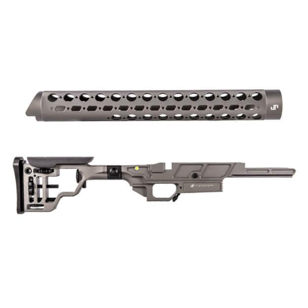 "JP Enterprises APAC Chassis - Remington 700 Right Fold w/ Two 4"" Picatinny Rails"