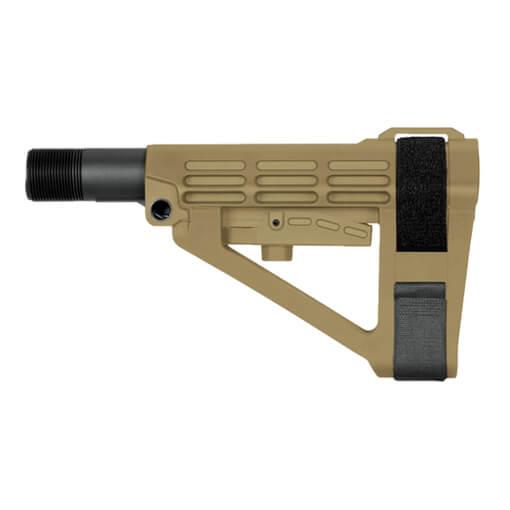 SB Tactical SBA4 Adjustable Brace - Dark Earth
