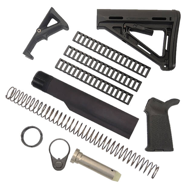 MAGPUL MOE Kit with Rail Covers and AFG2 - Black