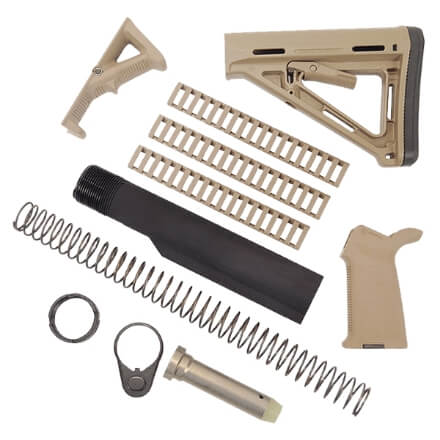 MAGPUL MOE Kit with Rail Covers and AFG2 - Dark Earth