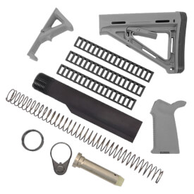 MAGPUL MOE Kit with Rail Covers and AFG2 - Stealth Grey