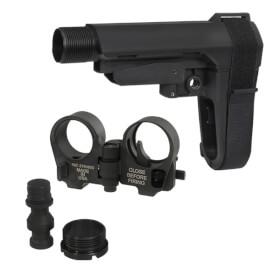 SBA3 Brace and Law Adapter Kit - Black