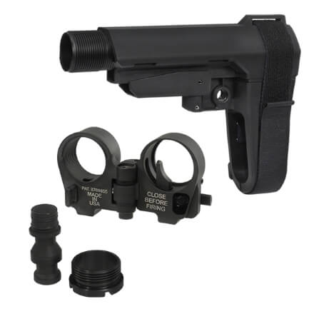 SBA3 Brace and Law Adapter Kit - Black
