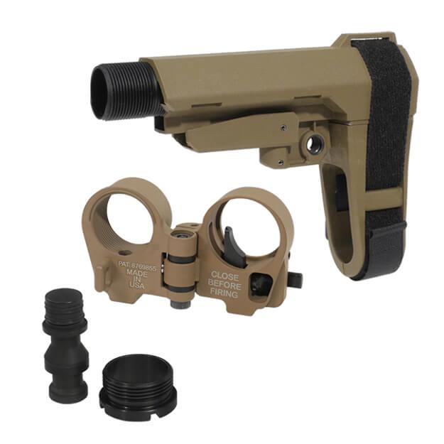 SBA3 Brace and Law Adapter Kit - Dark Earth