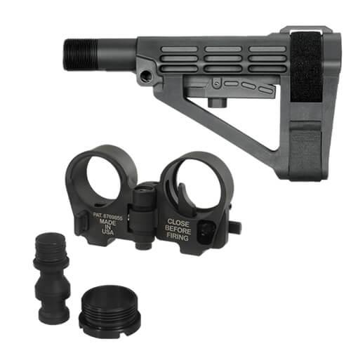 SBA4 Brace and Law Adapter Kit - Black
