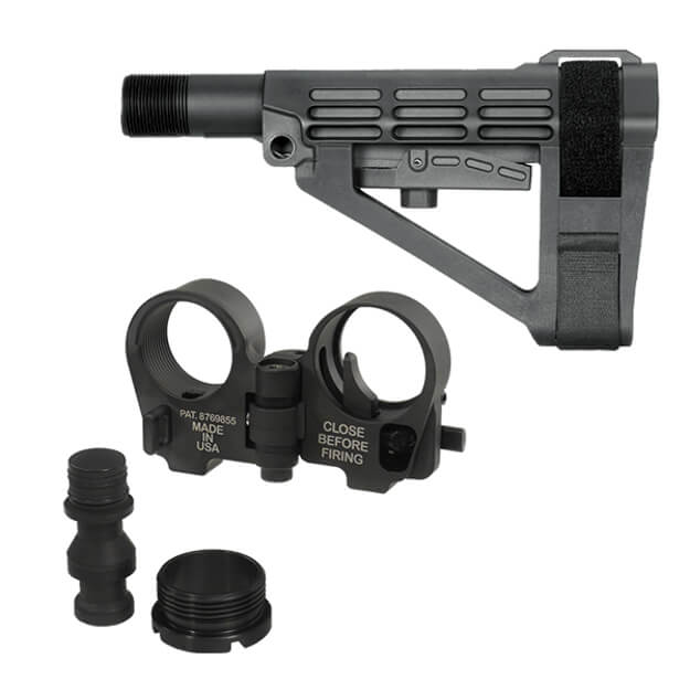 SBA4 Brace and Law Adapter Kit - Black