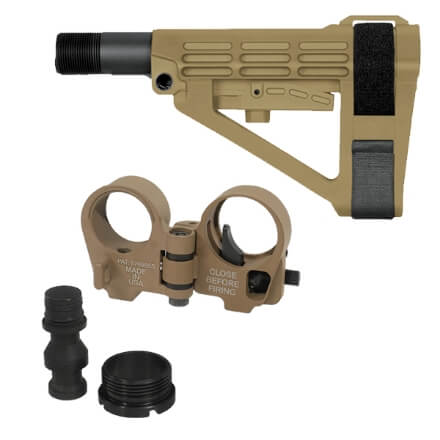 SBA4 Brace and Law Adapter Kit - Dark Earth
