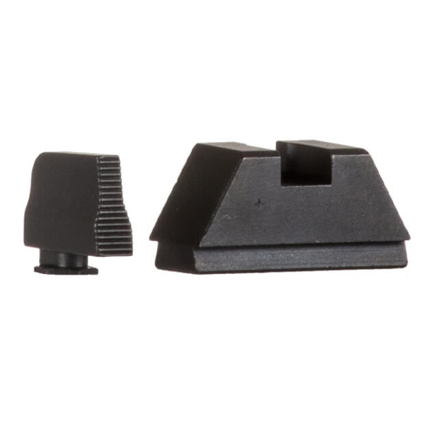 "AmeriGlo GLOCK 17/19/23 MOS Suppressor Height Sights - Black Serrated .315"" Front / .394"" Rear"