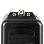 """AmeriGlo GLOCK 17/19/23 Tritium Sights White Outline - .140"""" Front / .150"""" Two Dot Rear"""