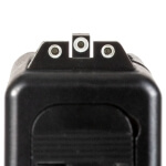 """AmeriGlo GLOCK 42/43/43x/48 Classic Tritium Sights White Outlined - .125"""" Front / .150"""" Two Dot Rear"""