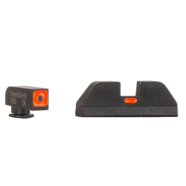 "AmeriGlo GLOCK 17/19/23 CAP Sights - Orange Outline .140"" Wide Front / .155"" Notch Orange Rear"
