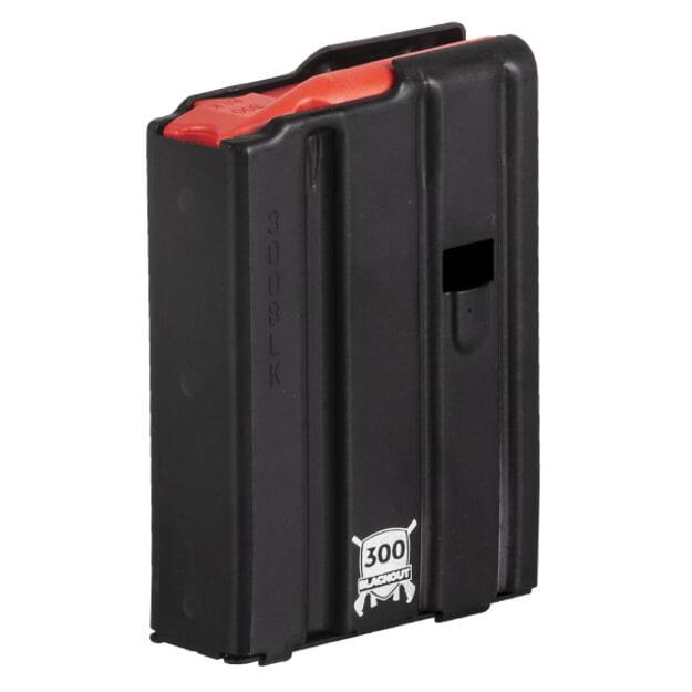 D&H Tactical .300 Blackout 10rd Aluminum Black Magazine w/ Red Follower