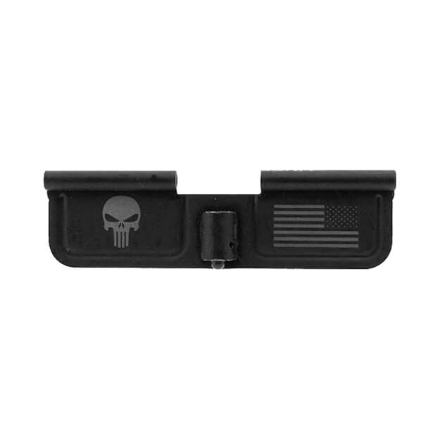 Spikes Ejection Port Door w/ Punisher and Flag Engraved