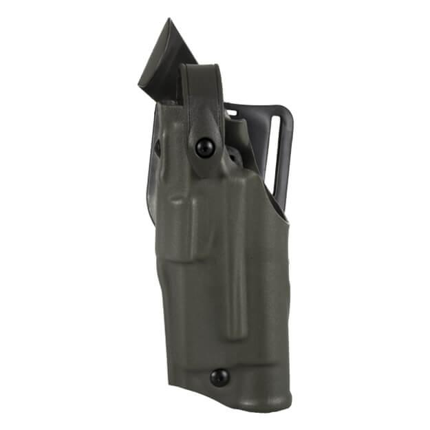 Safariland 6360 ALS Lv III Mid Ride UBL Holster - STX Green Glock 17, 22 w/ Light - Left Hand