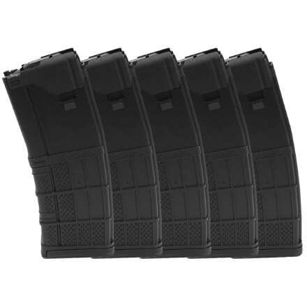 Lancer L5AWM 5.56mm 30rd Mag Opaque Black - 5 Pack