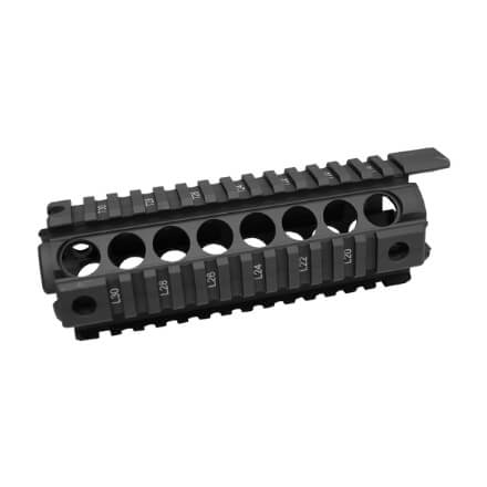 """Midwest Industries G2 Two Piece Forearm Carbine Length - 7"""" - Black"""