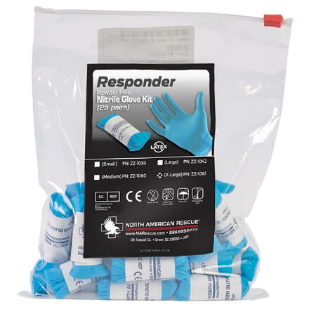 North American Rescue Responder Glove Multi Pack - 25 Xtra Large
