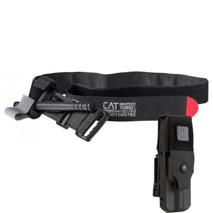 North American Rescue Rigid Gen 7 Tourniquet Case w/ Cover and CAT Tourniquet - Black