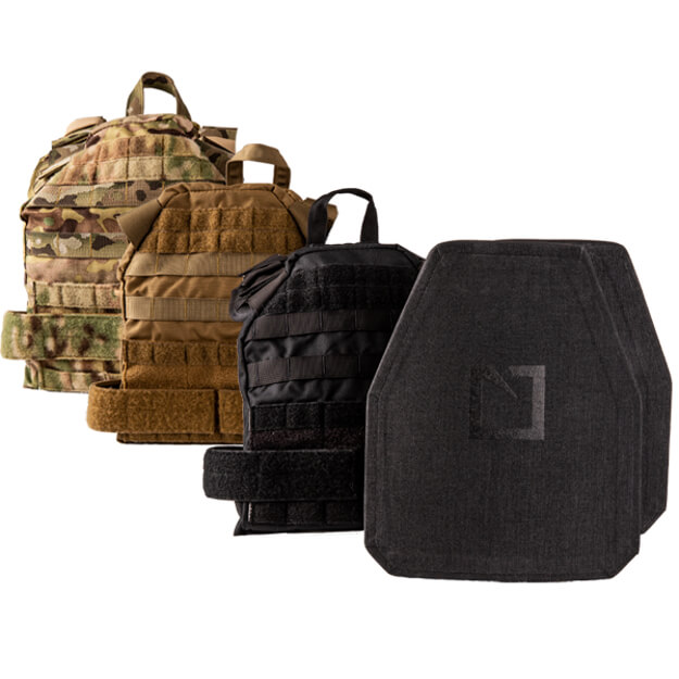 Hesco 400 Series Plates Level IV Shooter Cut w/ HSG SPC Bravo Molle Plate Carrier