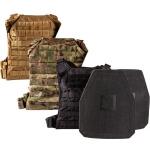 Hesco 400 Series Plates Level IV Shooter Cut w/ GRG Minimalist Plate Carrier