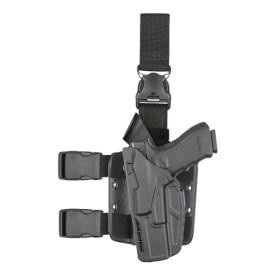 Safariland 7385 7TS ALS Holster - STX Plain Black Glock 17, 22 w/ Light - Left Hand