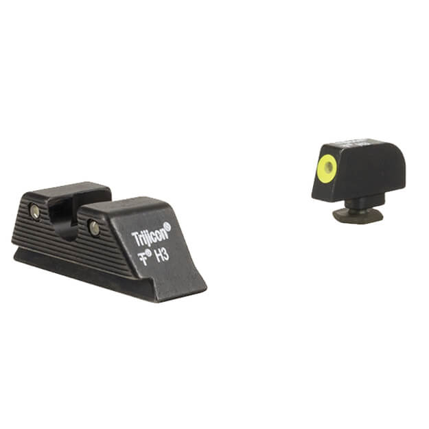 Trijicon HD XR Night Sight Set MOS Fit Yellow front