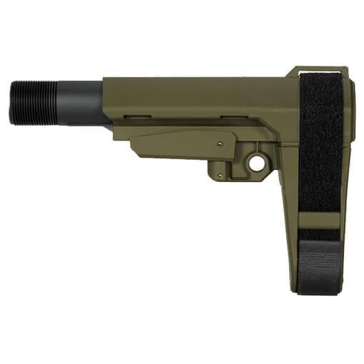 SB Tactical SBA3 5 Position AR Brace - OD Green