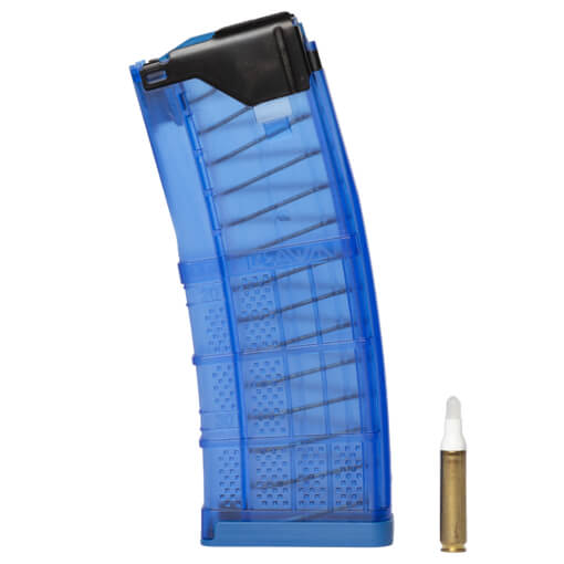 Lancer L5AWM 5.56mm 30rd Training Magazine Translucent Blue