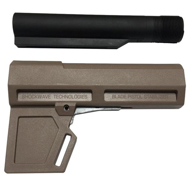 KAK Industry Shockwave 2.0 Blade Pistol Stabilizer Includes Tube - Dark Earth