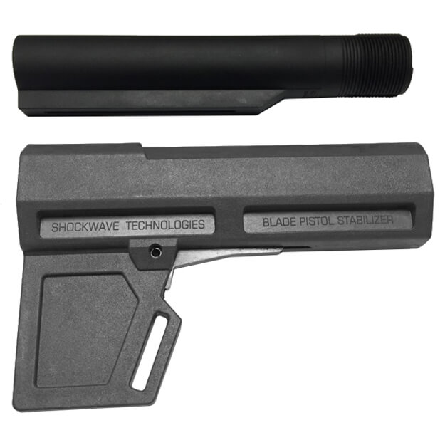 KAK Industry Shockwave 2.0 Blade Pistol Stabilizer Includes Tube - Grey