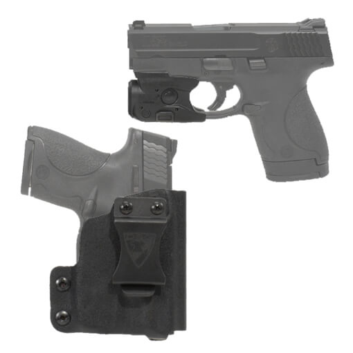 DSG CDC S&W M&P Shield Holster RH BLK includes Streamlight TLR-6 M&P Shield Tactical Light