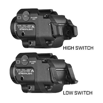 Streamlight TLR-8A 500 Lumen Weapon Light w/ Red Laser w/ High and Low Switch included
