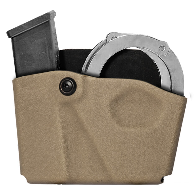 Safariland 573 Open Top Mag & Cuff Pouch STX Tactical GLK 17 Right Hand Tan