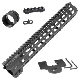 "Midwest Industries 12.625"" Combat Rail M-Lok Handguard - Black"