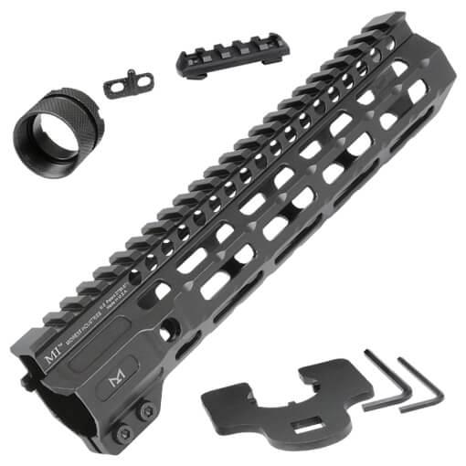 "Midwest Industries 9.50"" Combat Rail M-Lok Handguard - Black"