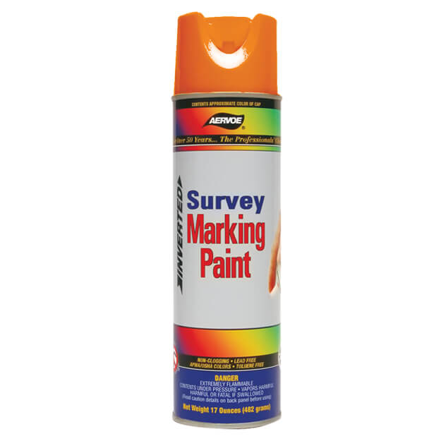 Aervoe Spray Survey Marking Paint - Fluorescent Orange