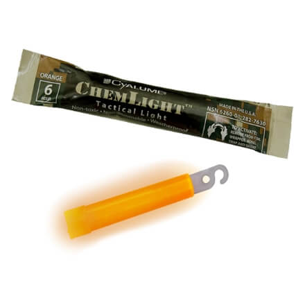 "Cyalume Technologies 6HR 4"" ChemLight - Orange"