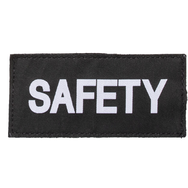 Blackhawk Safety Patch White/Black
