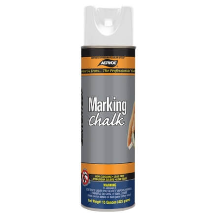 Aervoe Spray Marking Chalk - White