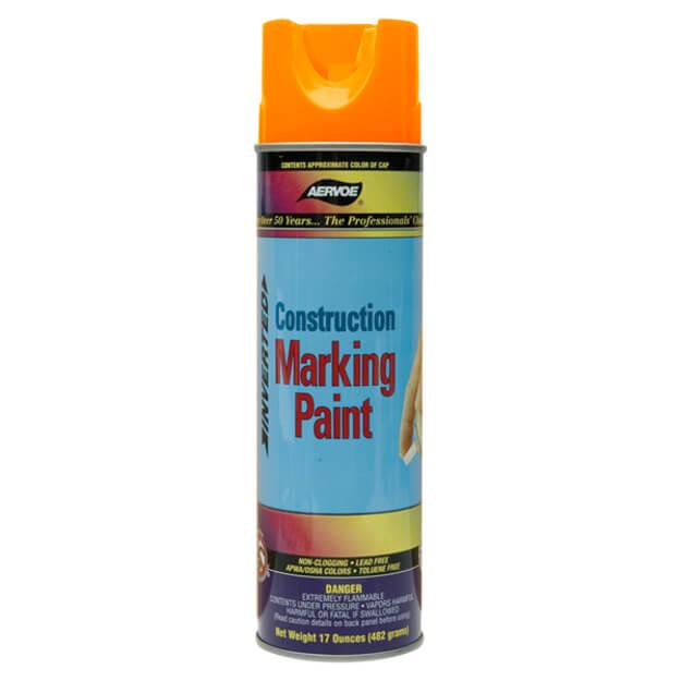 Aervoe Construction Marking Paint - Fluorescent Orange